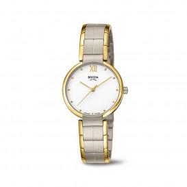 Boccia Titanium 3313.02 horloge Titanium Zilver en goudkleur Dames 1