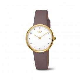 Boccia Titanium 3315.02 horloge Leer Gri Dames 1