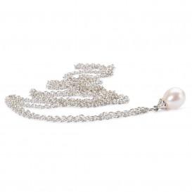 Trollbeads TAGFA-00012 Sterling zilveren collier met parel gepolijst 90 cm