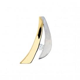Glow Gouden Hanger - Mat Glanzend Diamant 0.03ct. Gh/si3 220.5250.00