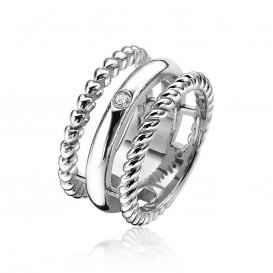 Zinzi ZIR1374 Zilveren ring met zirkonia Maat 56 is 17.75mm