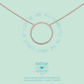 Heart to get N231KZB14R we are all connected in the great circle of life ketting rosé verguld