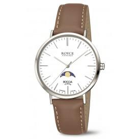 Boccia Horloge Royce Mondphase titanium-leder 3611-01
