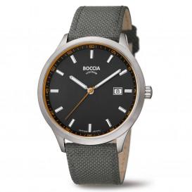Boccia 3614-01 Horloge chronograaf titanium-nylon 43 mm