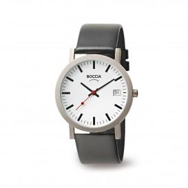 Boccia Titanium 3622.01 horloge Leer Zwa Heren 1