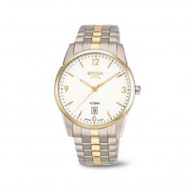 Boccia Ttanium 3632.02 horloge - Titanium - Zilver en goudkleurig - 39 mm 1