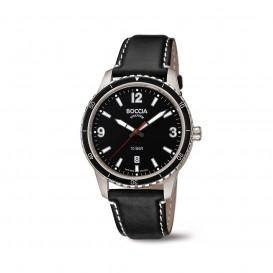 Boccia Titanium 3635.01 horloge Leer Zwa Heren 1