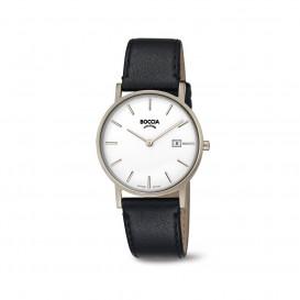 Boccia Titanium 3637.02 horloge Leer Zwa Heren 1