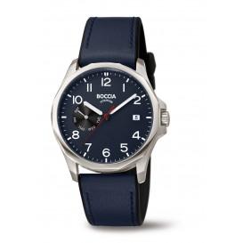 Boccia 3644-02 Horloge Titanium-Leder blauw 40 mm 1