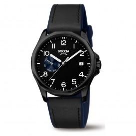 Boccia 3644-03 Horloge Titanium/Leder zwart 40 mm