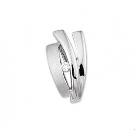 TFT Hanger Zilver gerhodineerd Zirkonia Poli/mat 15,5 x 8,5 mm
