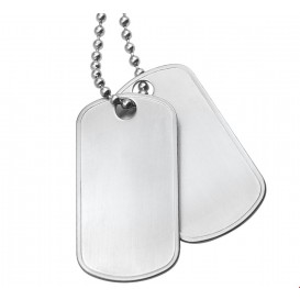 TFT Collier Staal Dogtags Mat