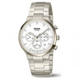 Boccia 3746-01 Horloge Titanium zilverkleurig-wit 39 mm