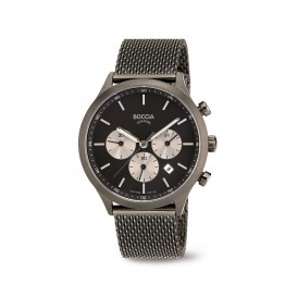 Boccia Titanium 3750.06  horloge - Staal - Grijs - 41 mm 1
