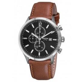 Boccia Horloge Chronograaf titanium-leder 3753-04