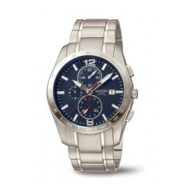 Boccia 3767-03 Horloge Titanium zilverkleurig-blauw 41 mm