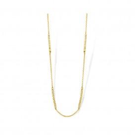 Mi Moneda NEC-02-EVI-80 Necklace Evita 925 Silver Gold Plated