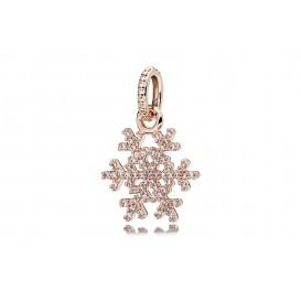 Pandora Rose Hanger zilver Sparkling Snowflake rosékleurig 380354CZ