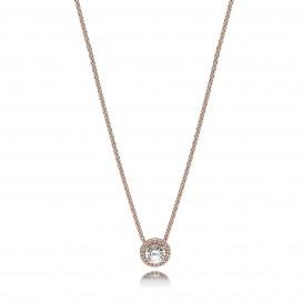 Pandora Rose Ketting zilver Classic Elegance rosékleurig 45 cm 386240CZ-45