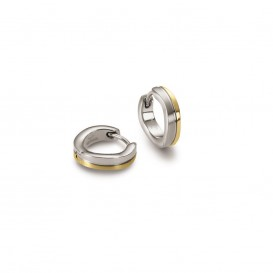 Boccia 0563-02 Oorringen titanium zilver- en goudkleurig