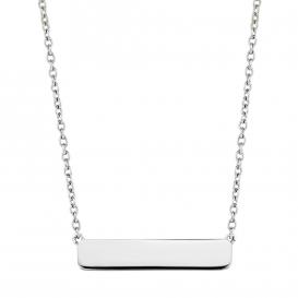 TI SENTO - Milano 3893SI Ketting zilver met zilverkleurige bar 42-47 cm