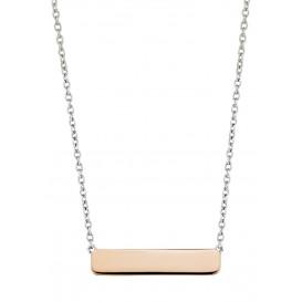 TI SENTO - Milano 3893SR Ketting zilver met rosekleurige bar 42-47 cm