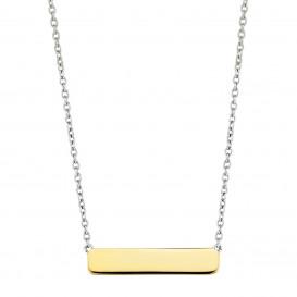 TI SENTO - Milano 3893SY Ketting zilver met goudkleurige bar 42-47 cm