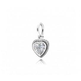 Pandora Hangbedel zilver 'Glinsterend Hart' 390366CZ