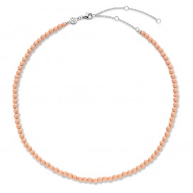 TI SENTO-Milano 3916CP Ketting Beads zilver koraalroze 4 mm 38-48 cm-1