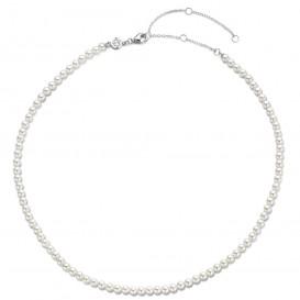 TI SENTO-Milano 3916PW Ketting Beads zilver-parel wit 4 mm 38-48 cm