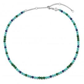 TI SENTO-Milano 3916TM Ketting Beads zilver-kleursteen blauwtinten 4 mm 38-48 cm-2