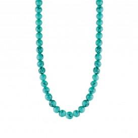 TI SENTO - Milano 3916TQ Ketting zilver met turquoise balletjes 40-47 cm-1