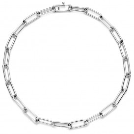 TI SENTO-Milano 3937ZI Ketting Ovale schakels zilver 45 cm