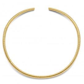 TI SENTO-Milano 3961SY Ketting Spang Ribbels zilver goudkleurig 4 mm
