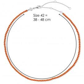 TI SENTO-Milano 3962CO Ketting Beads zilver-kleursteen cognac 3 mm 42 cm