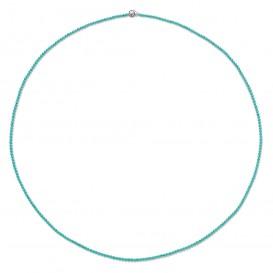 TI SENTO-Milano 3962TQ Ketting Beads zilver-kleursteen turquoise 3 mm 80 cm