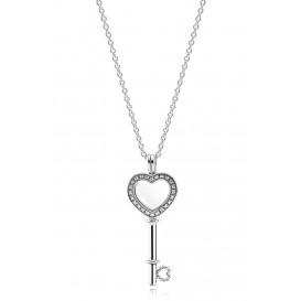 Pandora Ketting zilver 'Lock Your Promiss' 80 cm 396581CZ