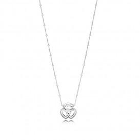 Pandora Ketting zilver United Regal Hearts 45 cm 397719