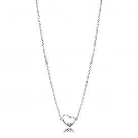 Pandora 397797CZ Ketting zilver Asymmetrical Heart 45 cm