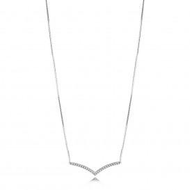 Pandora 397802CZ Ketting zilver Shimmering Wish 45 cm