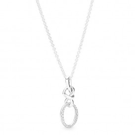 Pandora 398078CZ Ketting zilver Knotted Hearts 60 cm
