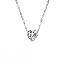 Pandora 398425C01 Ketting Elevated Heart zilver 45 cm