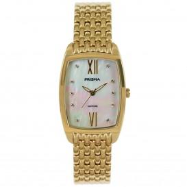 Prisma horloge 1962 Dames Edelstaal Goud Parelmoer P.1962 Dameshorloge 1