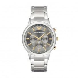 Emporio Armani Horloge Renato staal zilverkleurig AR11047