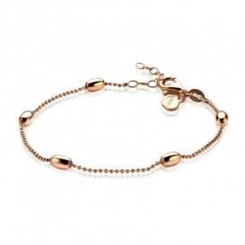 Zinzi ZIA1232R Rosévergulde zilveren bolletjes armband