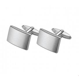 Manchetknopen Mat Zilver Gerhodineerd Mat Glanzend 12,5 mm x 18,5 mm