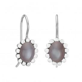 Rabinovich 53304056 zilveren maansteen oorstekers