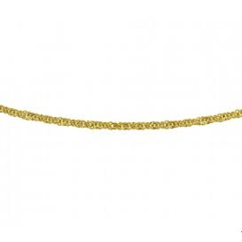 Zilgold Collier goud met zilveren kern Singapore 3,0 mm 45 cm