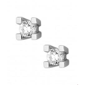 Oorknoppen Diamant 0.50 Ct. Witgoud Glanzend 5 mm x 5 mm