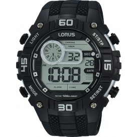 Lorus Herenhorloge Digitaal Zwart R2351LX9